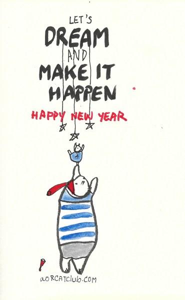 New year's cat card from cat club2_aorcatclub