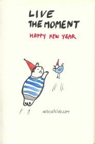 New year's cat card from cat club3_aorcatclub