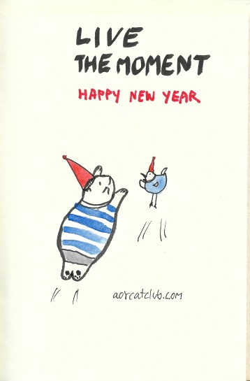 New year's cat card from cat club3_aorcatclub