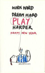 New year's cat card from cat club4_aorcatclub