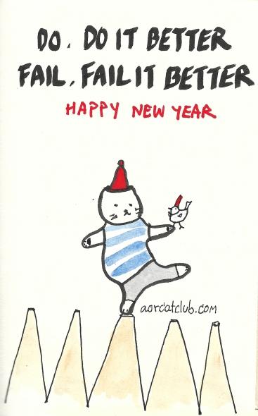 New year's cat card from cat club5_aorcatclub
