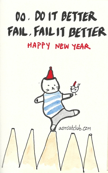New year's cat card from cat club5_aorcatclub