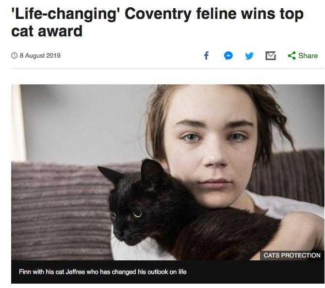 แมวช่วยเด็กจากโรคซึมเศร้า