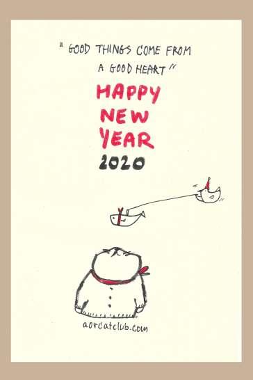 New Year Card 2020_1catclub